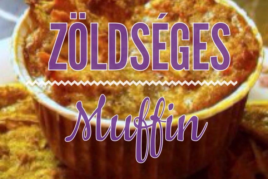 Recept • zöldséges muffin