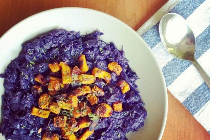 Recept • lilakáposzta-főzelék