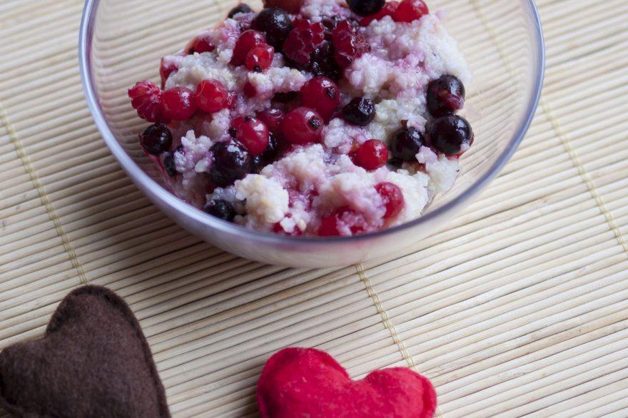 Recept • gyümölcsös köleskása