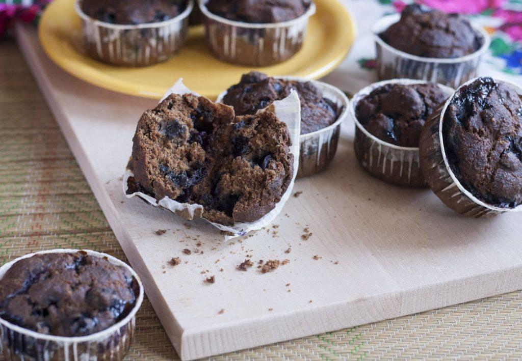 Nagyon áfonyás muffin.
