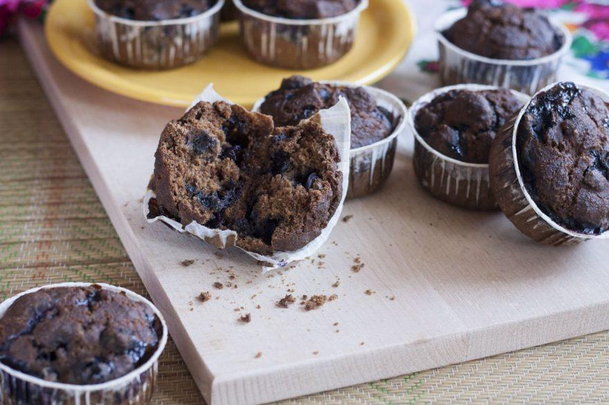 Recept • áfonyás muffin