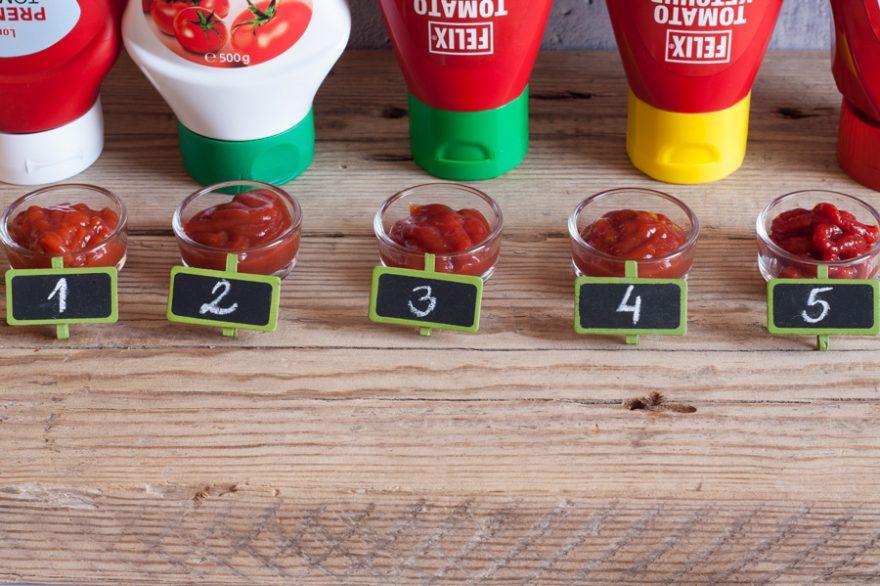 Cukormentes ketchupok tesztje