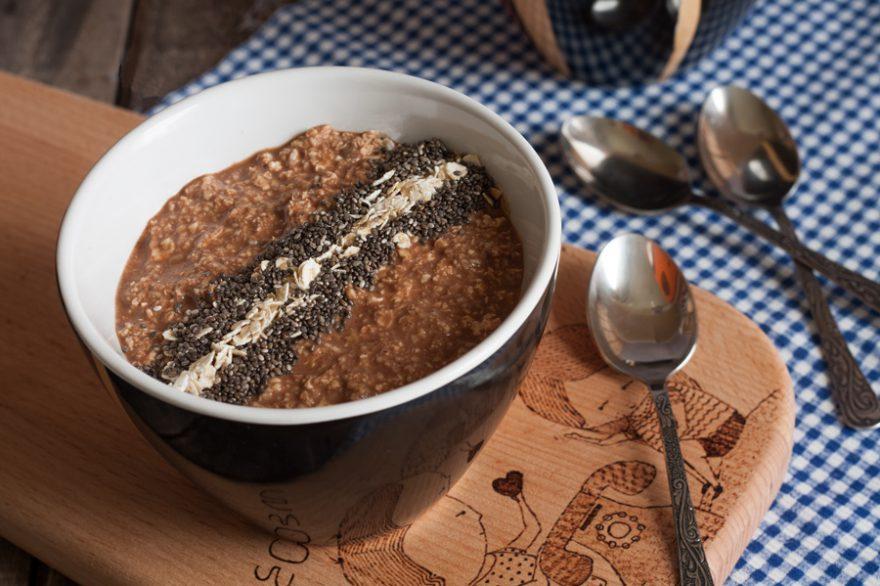 Kakaós zabkása reggelire, 5 perc alatt